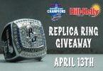 Pensacola Blue Wahoos Replica Championship Ring 4-13-2018