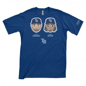 Tampa Bay Rays Chris Archer & Kevin Kiermaier Emoji T-Shirt 4-15-2018