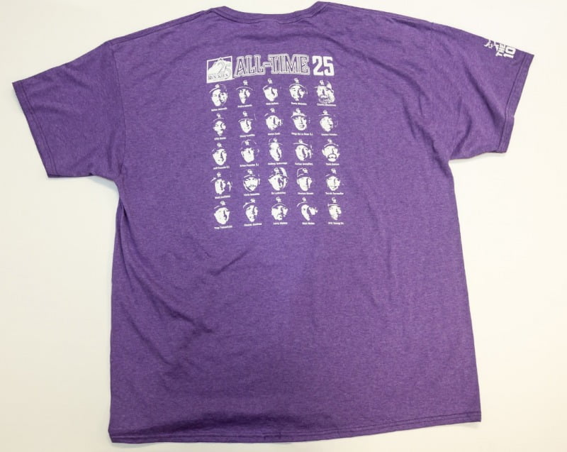 """186d9deb Promotion: 25th Anniversary """"All-Time 25"""" Roster T-Shirt First 15,000 Fans"""