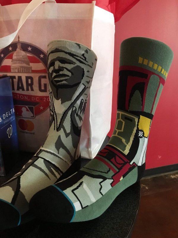 Washington Nationals Star Wars Socks 5-5-14