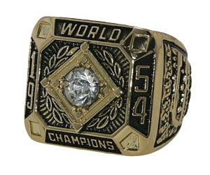 Gaints 1954 Replica World Series Ring 4-26-2014