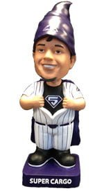 colorado rockies cargo gnome bobblehead 5 18 2014 May 18, 2014 San Diego Padres vs Colorado Rockies Super Cargo Bobblehead Gnome