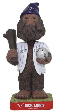 colorado rockies sasquatch gnome 6 8 2014 June 8, 2014 Los Angeles Dodgers vs Colorado Rockies Sasquatch Bobblehead Gnome