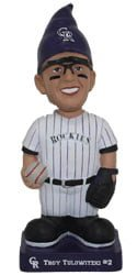 colorado rockies tulo gnome bobble 6 22 14 June 22, 2014 Milwaukee Brewers vs Colorado Rockies Obi Wan Owitzki Bobblehead Gnome