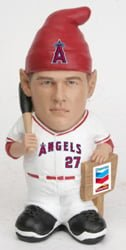 los angeles angels trout gnome promo 7 18 14 July 18, 2014 Seattle Mariners vs Los Angeles Angels Mike Trout Gnome