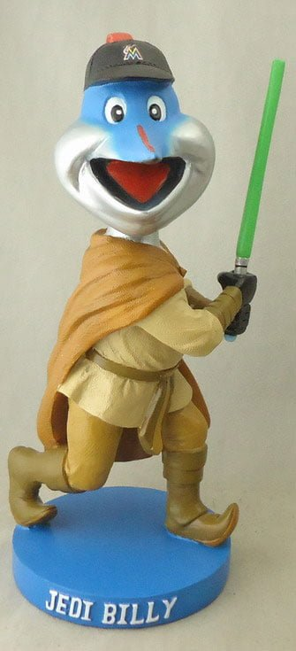 Miami Marlin billy jedi Bobblehead 9 6 2014 September 6, 2014 Miami Marlin vs. Atlanta Braves Jedi Billy Bobblehead