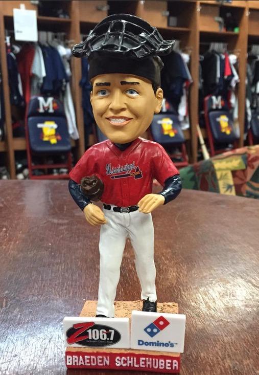 Braeden Schlehuber Bobblehead - Mississippi Braves - Atlanta Braves (2)