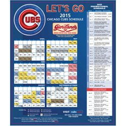 photo relating to Chicago Cubs Schedule Printable identify April 5, 2015 Chicago Cubs vs. St. Louis Cardinals - Cubs