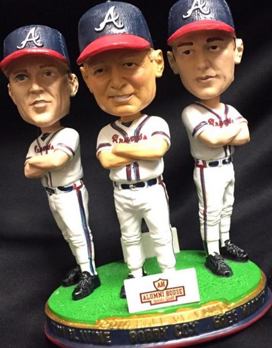 Glavine, Cox, Maddux triple bobblehead HOF - Mississippi Braves - Atlanta Braves