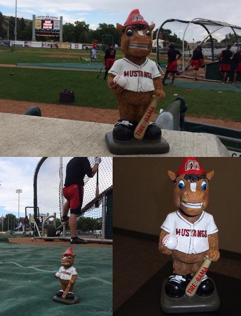 Homer Garden Gnome - Billings Mustangs - Cincinnati Reds