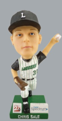 chris sale bobblehead - madison mallards - northwoods league