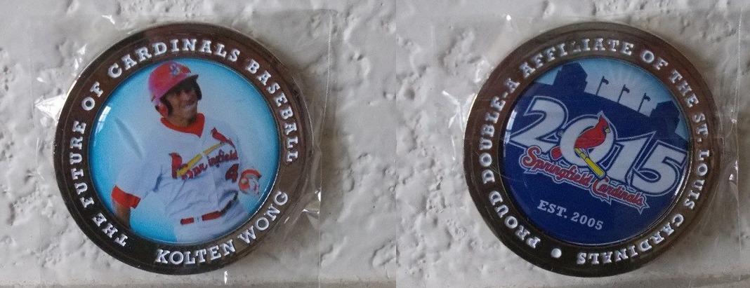 kolton wong coin - springfield cardinals - st louis cardinals