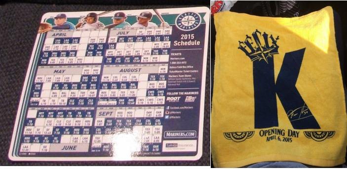 Mariners Giveaway Schedule
