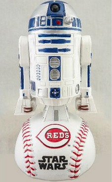 r2d2 bobblehead star wars night - cincinnati reds