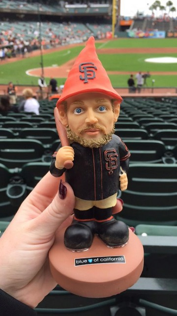 hunter pence garden gnome - san francisco giants