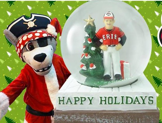 snowglobe - erie seawolves - detroit tigers