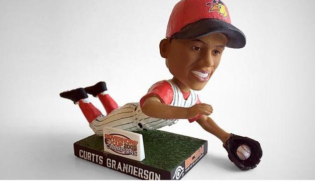 Curtis Granderson Bobblehead - Toledo Mudhens - Detroit Tigers