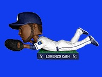 Kansas City Royals_Lorenzo Cain Bobblehead_6-6-15