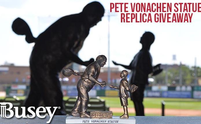 Pete Vonachen Statue Replica - Peoria Chiefs - St Louis Cardinals