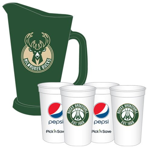 Milwaukee Bucks_Pitcher and Cup Set_2-11-2016