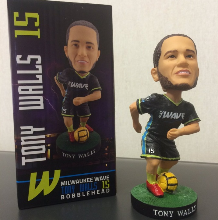 Tony Walls Bobblehead - Milwaukee Wave - 12-31-2015