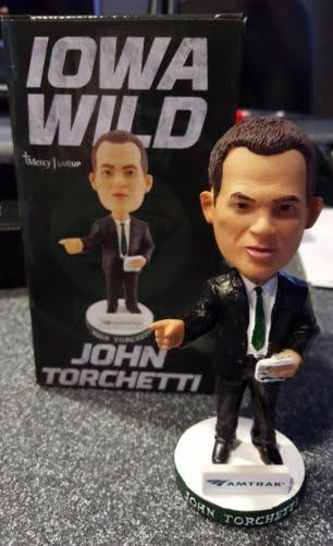 Iowa Wild John Torchetti Bobblehead 1-30-2016