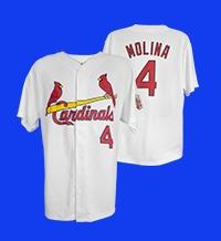 Memphis Redbirds Cardinals Replica Yadier Molina Home Jersey 5-21-2016