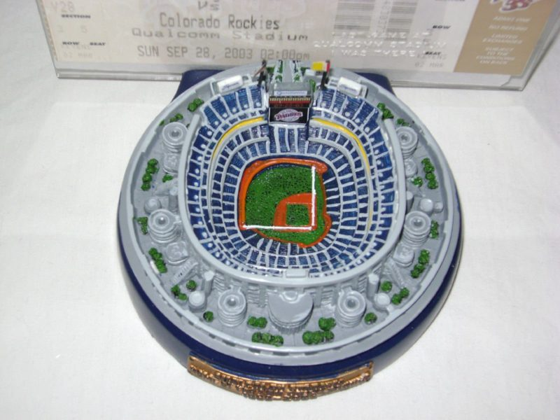 2003 San Diego Padres Qualcomm Jack Murphy Stadium Replica