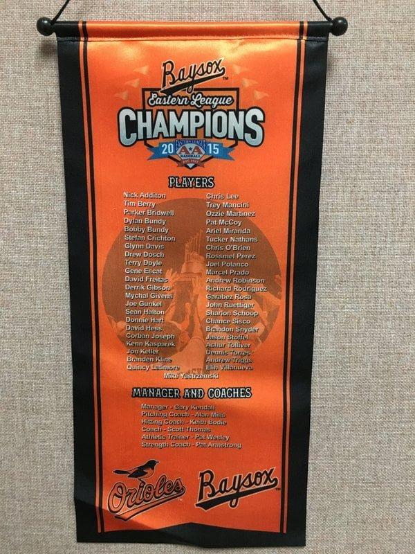 Bowie Baysox Mini Champ Banner 4-7-2016