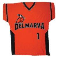 Delmarva Shorebirds Orange Jersey Ralley Towel 4-15-2016