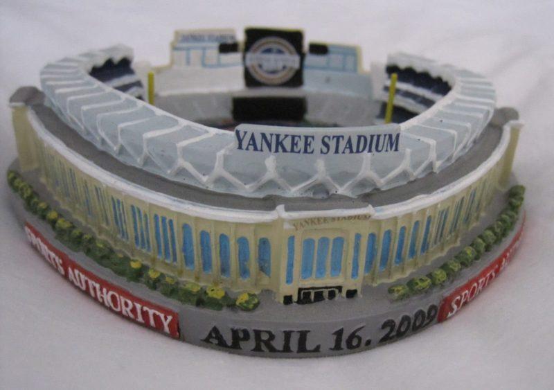 NY YANKEES NEW STADIUM REPLICA SGA APRIL 16 2009