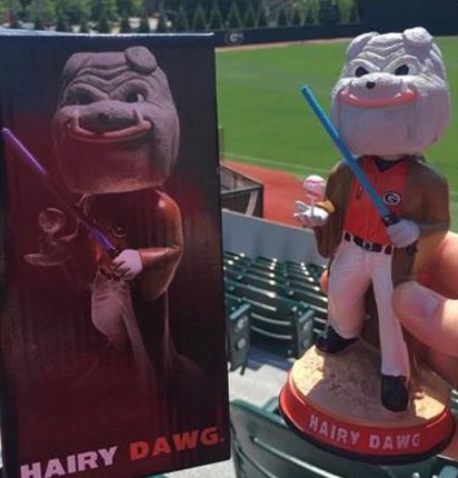 hairy dog star wars bobblehead - georgia bulldogs (mens ncaa baseball) - 5-8-2016