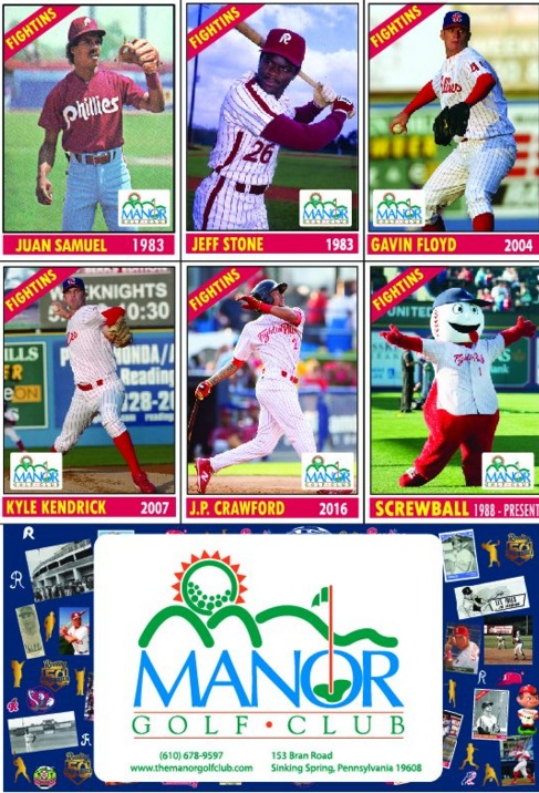 50 greatest players card set #1 - reading fightin phils - 4-11-2016