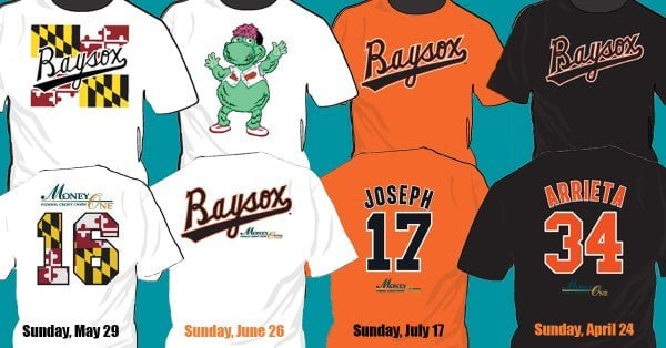 Bowie Baysox T Shirts 2016