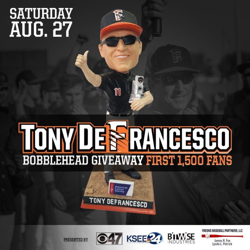 Fresno Grizzlies Tony D Bobblehead 8-27-2016