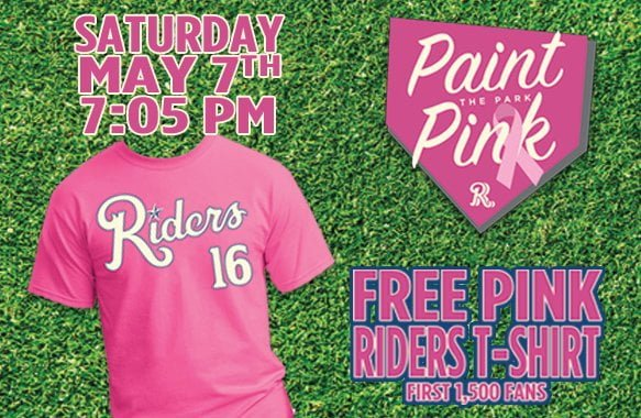 Frisco RoughRiders Pink Riders T-Shirt 5-7-2016