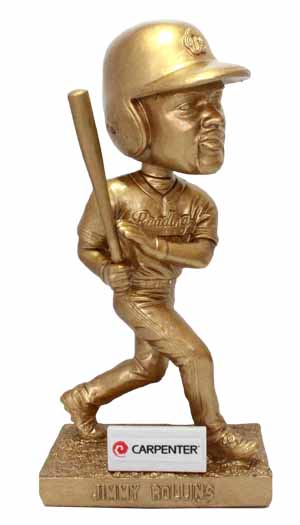 Jimmy Rollins Golden Bobblehead - Reading Fightin Phils - 4-23-2016