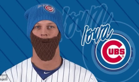 jake arieta beard beanie - iowa cubs - 4-25-2016