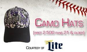 Albuquerque Isotopes Camo Hat 6-17-2016