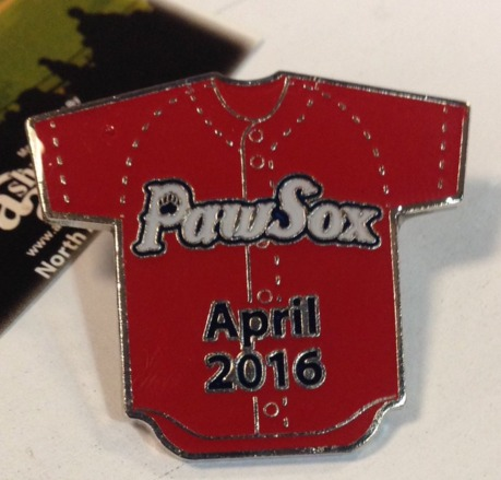 red jersey pin - pawtucket red sox - 4-8-2016