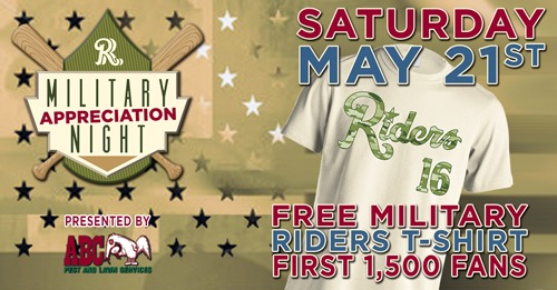 Frisco RoughRiders Miltary Rough Riders T-Shirt 5-21-2016