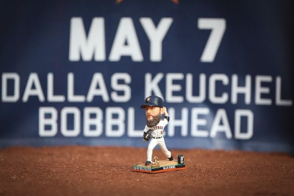 Houston Astros Dallas Keuchel Cy Young Gold Glove Bobblehead 5-7-2016