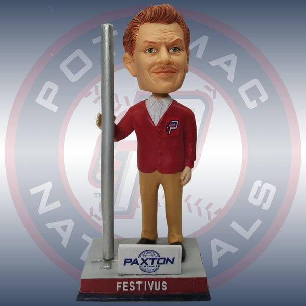 P Nats Halfway to Festivus Seinfeld Night Frank Costanza Bobblehead 7-23-2016