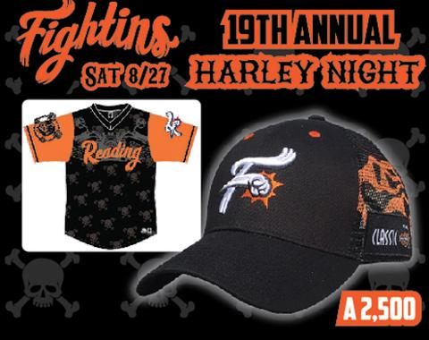 Reading Fightin Harley Night Harley Game Cap 8-27-2016