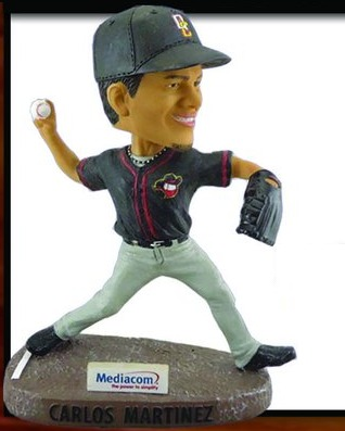 carlos martinez bobblehead - quad city river bandits - 5-28-2016