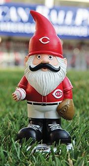 Cincinnati Reds Get Your 'Stache On Garden Gnome 6-11-2016