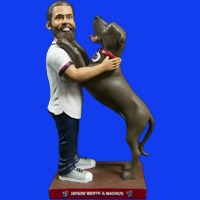 Washington Nationals Jayson Werth and Pet Figurine 6-27-2016