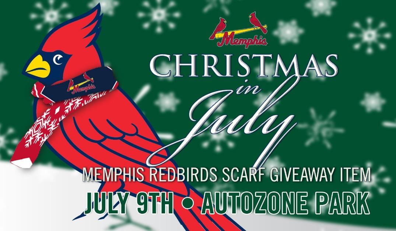 christmas scarf - memphis redbirds - 7-9-2016