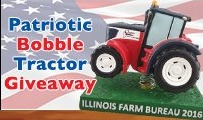patriotic tractor bobblehead - quad cities river bandits - 7-29-2016