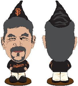 San Francisco Giants Bruce Bochy Gnome 7-31-2016
